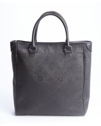 Ferragamo Dark Brown Gancio Embossed Leather Apollo Large Convertible Tote Bag - Lyst