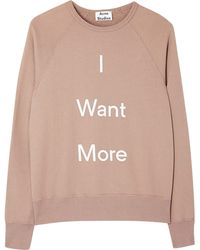 Acne Studios College I Want You Slogan Sweater - Lyst