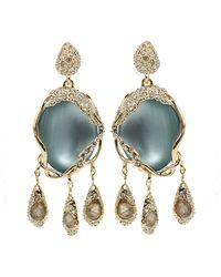 Alexis Bittar Labrodite Fringe Post Earrings - Lyst