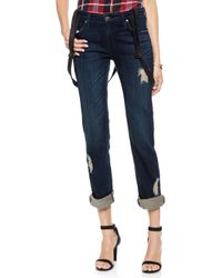 James Jeans Buddy Boyfriend Suspender Jeans  Westminster - Lyst