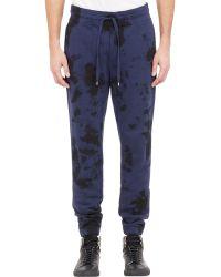 Vince Blue Tie-Dye Sweatpants - Lyst