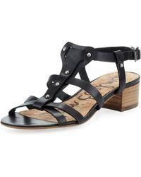 Sam Edelman Angela Studded T-Strap Sandal - Lyst