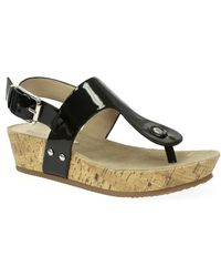 Ellen Tracy Inga Wedge Sandals - Lyst