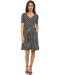 Maggy London Flippy Stripe Fit & Flare Dress - Lyst