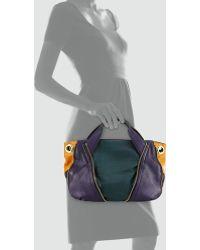 orYANY - Lian Small Zip Leather Satchel Bag - Lyst
