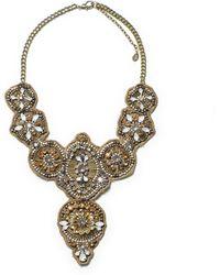 Zara 20s Style Diamante Necklace - Lyst