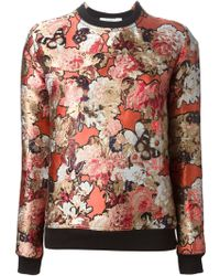 Givenchy Floral Embroidered Sweatshirt - Lyst