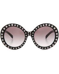 Prada Studded Sunglasses - Black/Grey Gradient - Lyst