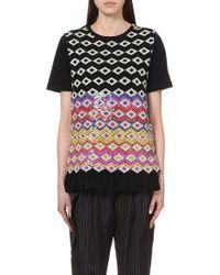 Dries Van Noten Embroidered Jersey Sweatshirt - For Women - Lyst