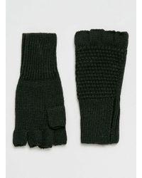 TOPMAN - Black Fingerless Gloves - Lyst