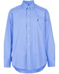 Ralph Lauren Blue Label Checked Cotton Shirt - Lyst