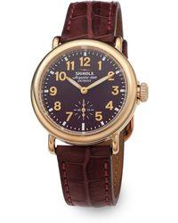 Shinola Runwell Goldtone Stainless Steel & Alligator Strap Watch - Lyst