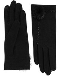 Portolano Mink-trimmed Wool and Cashmere Gloves - Lyst
