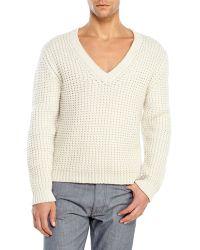 Ian Velardi Cream Chunky Wool Sweater - Lyst