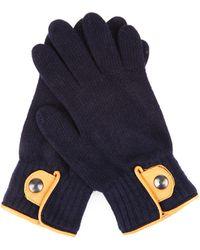 Oliver Spencer - Donegal Leather-trim Wool Gloves - Lyst