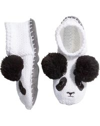 H&M White Knitted Slippers - Lyst