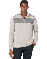 Calvin Klein Quarterzip French Terry Sweater - Lyst