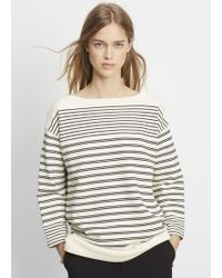 Vince | Stripe Cotton Terry Pullover | Lyst