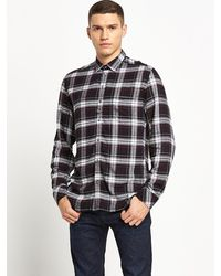 Diesel Mens S-kinops-k Denim Collar Long Sleeve Shirt - Lyst