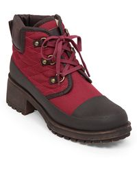 Lucky Brand - Akonn Quilted Sherpa-lined Booties - Lyst