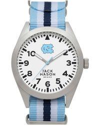 Jack Mason Brand - 'university Of North Carolina Tar Heels' Stripe Nato Strap Watch - Lyst