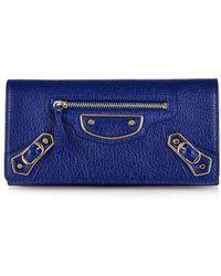 Balenciaga Classic Money Edge-Line Leather Wallet - Lyst