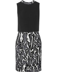 Proenza Schouler Flocked Moiréjacquard and Crepe Mini Dress - Lyst