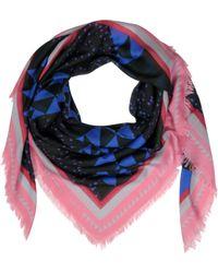 Proenza Schouler - Blue/Black Diagonal Triangle Print Modal & Silk Wrap - Lyst