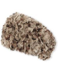 C-lective - Rabbit Fur Headband - Lyst
