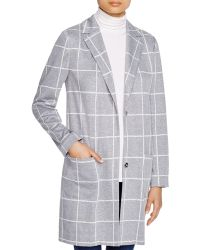 NYDJ - Windowpane Check Coat - Lyst