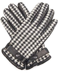 Orley - Hound'S-Tooth Jacquard And Leather Gloves - Lyst