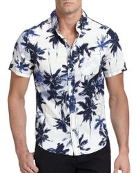 Madison Supply Palm-Tree-Print Sportshirt - Lyst