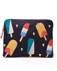 Lizzie Fortunato Embroidered Popsicle Clutch multicolor - Lyst