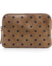 Madewell Medium Pouch with Polka Dots Deep Marsh - Lyst