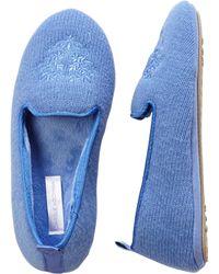 Carole Hochman - Tuxedo Flat Slippers - Lyst