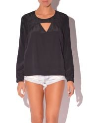 Rory Beca Mento Cut Out Blouse - Lyst