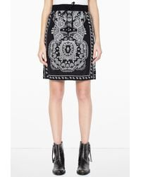 DKNY Pull On Drawstring Patterned Skirt - Lyst