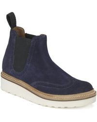 Foot The Coacher - Womens Alice V Suede Chelsea Boots - Lyst