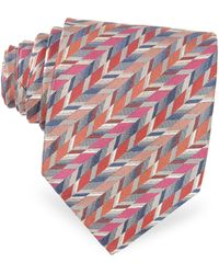 Missoni Geometric Ribbon Pattern Woven Silk Tie - Lyst