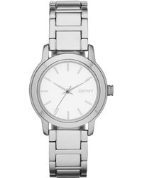 DKNY Womens Tompkins Silver Ion-plated Bracelet Watch 32mm - Lyst
