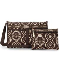 Lesportsac Ikatprint Messenger Bag  Pouch - Lyst