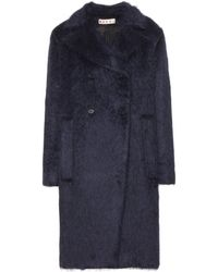 Marni Wool and Alpacablend Coat - Lyst