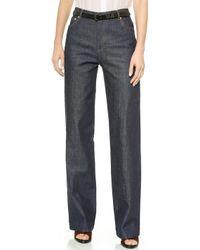A.P.C. Jean Taille Haute Wide Leg Jeans - Indigo Stretch - Lyst