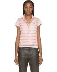 Moncler Light Pink Quilted Down Liane Vest - Lyst