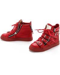 Giuseppe Zanotti Strappy London Sneakers - Lyst