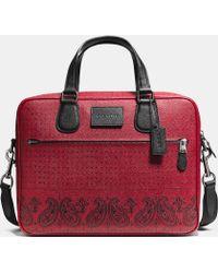 Coach Hudson Bag In Printed Crossgrain Leather - Lyst
