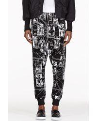 KTZ - Black Tarot Print Harem Pants - Lyst