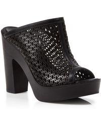 Pour La Victoire - Open Toe Platform Mules - Sanya High Heel - Lyst