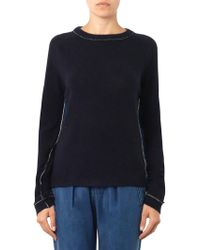 M.i.h Jeans - The Westy Contrast-back Jumper - Lyst