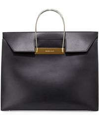 Balenciaga Cable-Handle Flap-Top Shopper Bag - Lyst